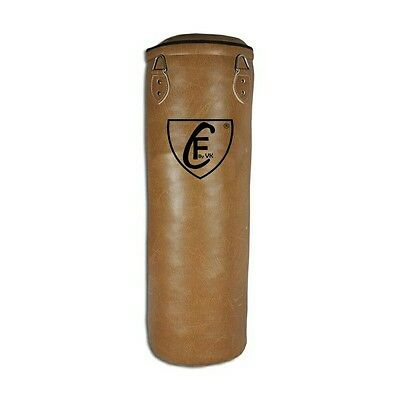 BRAZILIAN MMA Boxing Floor to Ceiling Punching Bag PU Leather Dark Brown,120cm