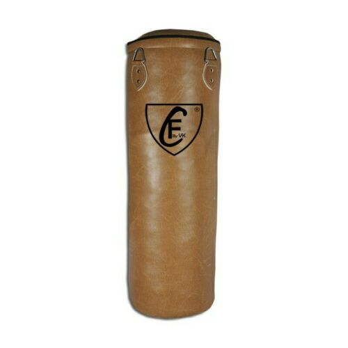 BRAZILIAN MMA Boxing Floor to Ceiling Punching Bag PU Leather Wrest,Brown,150 cm