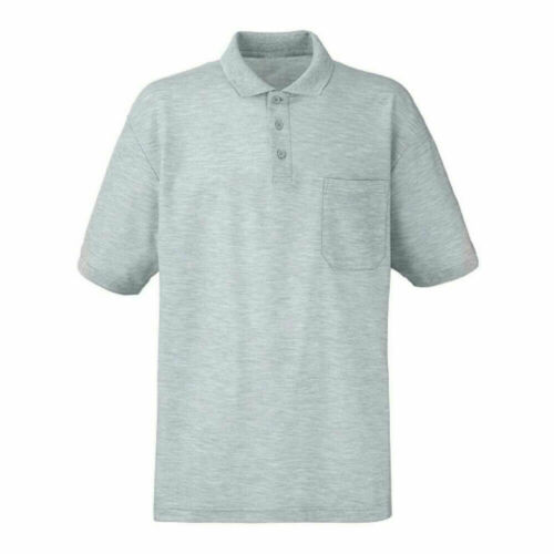 Men/'s Plain Pique Collared  Polo Shirt with Pocket