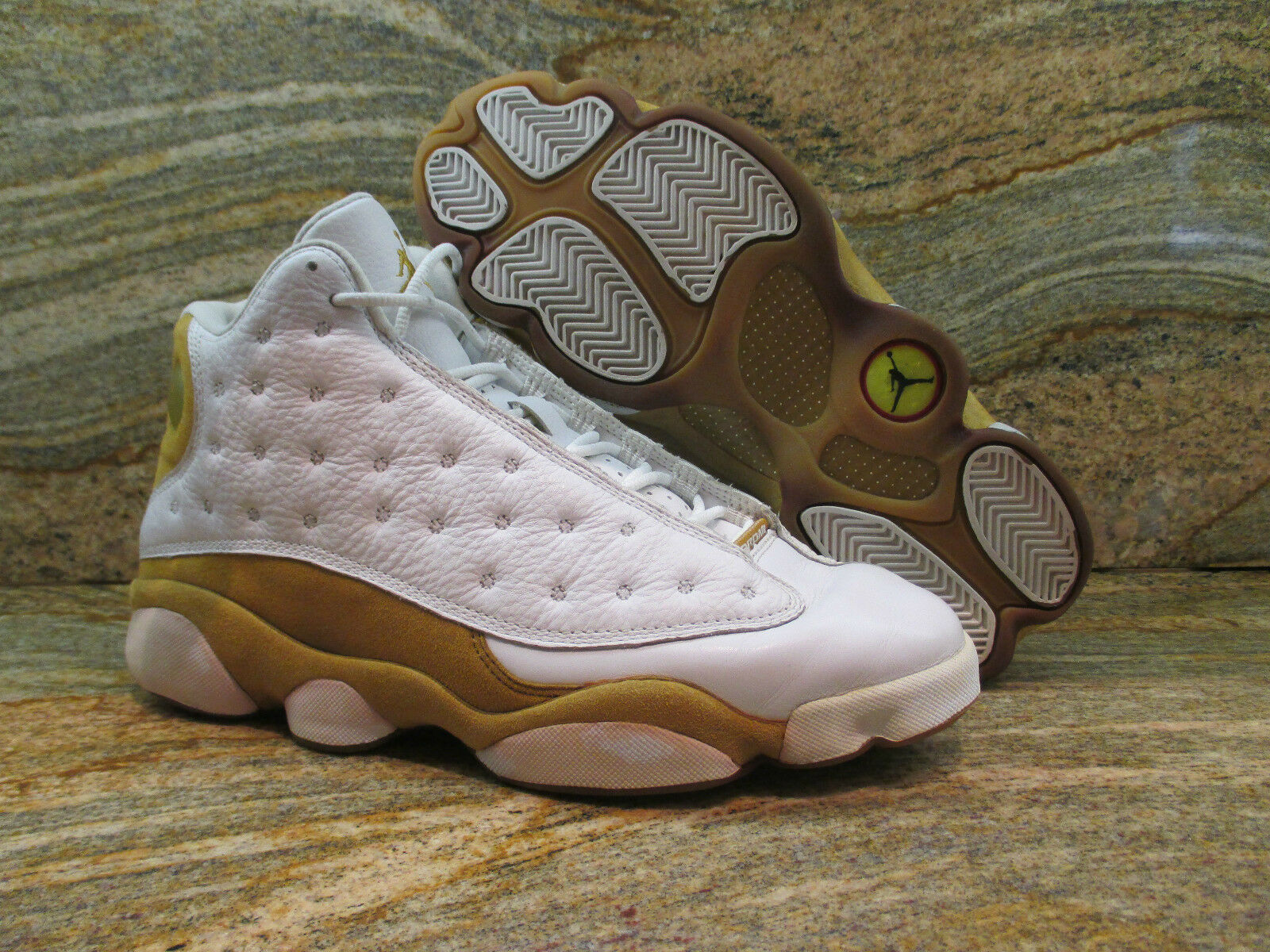 2004 Nike Air Jordan XIII 13 Retro Sample SZ 9 White Wheat OG Playoff 309259-171