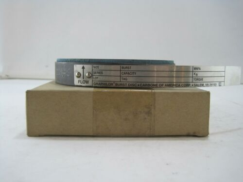 New Carbone Graphilor Burst Disc 3 Series 3 75 PSIG @ 72° F
