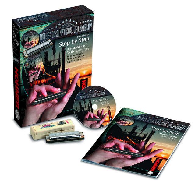 Hohner Step by Step Blaus Harp Starter Set mit CD Mundharmonika