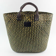 ELEGANT BOUTIQUE BOHO BEACH BAG 100% STRAW SHOPPER TOTE WOMEN HOLIDAY SHOPPING