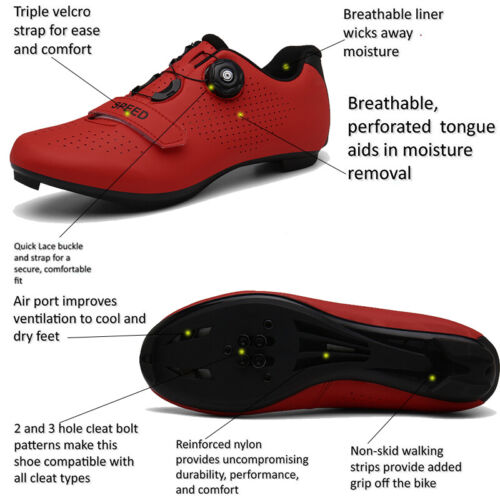 Details about  /Professional Bicycle Shoes Cycling Men Road Bike Sneaker Spin Spd Indoor Peloton