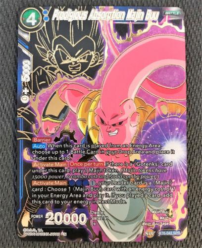 Prodigious Absorption Majin Buu BT6-042 SPR Dragon Ball Super TCG Near Mint