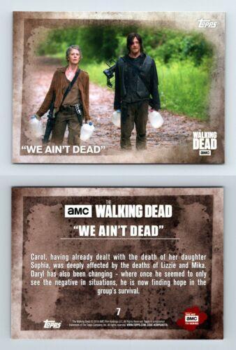 We Aint Dead #7 The Walking Dead Season 5 Topps 2016 Trading Card