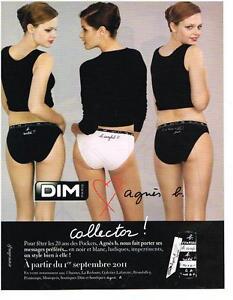 PUBLICITE ADVERTISING 2011 DIM  collection  sous vetements   AGNES B. collector