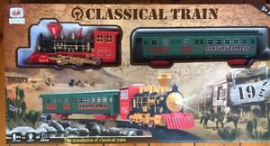 STEAM-TRAIN-ENGINE-SET-STEAM-ENGINE-CARRIAGE-SOUND-amp-LIGHT-78cm-DIAMETER-TRACK