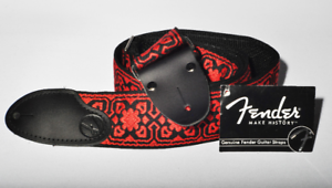Fender-2-039-039-inch-Hip-Trip-Red-Black-Vintage-Style-Cloth-Guitar-Strap