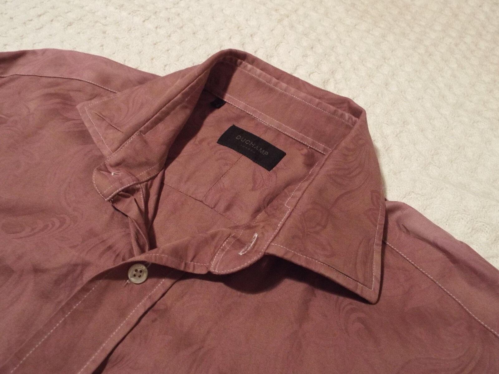 DUCHAMP Mens Shirt  Size 16  (CHEST 42 )  RRP + COOL FLORAL JACQUARD