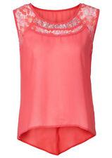 Sexy Bluse mit Spitze und Strass   Gr.42