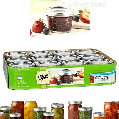 Ball Crystal Quilted Mason Jars 4 Oz Set Of 12 Glass Canning Jars jelly Fruits