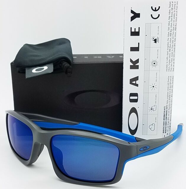 61f8ebed98 NEW Oakley Chainlink sunglasses Matte Grey Ice 9247-05 blue chain AUTHENTIC  9247