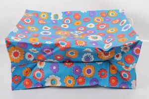 Beautiful-Old-GDR-Beach-Bag-Flowers-Pattern-Pril-Flowers-Outdoor-Camping-Retro