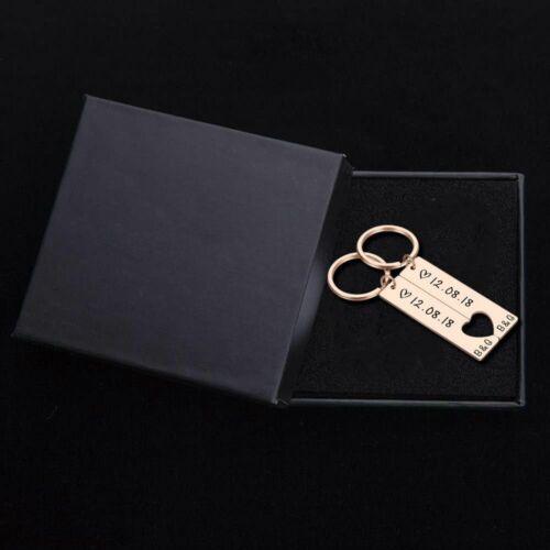Customized Keychain Couple Boyfriend Girlfriend Keyring Husband Anniversary Gift