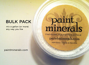 Make chalk-style paint in any color easily with Paint Minerals Bulk Pack
