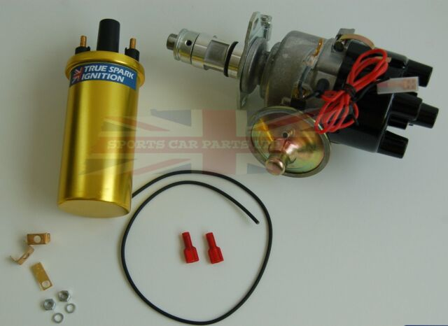 New 45D Electronic Ignition Distributor With Sport Coil for MG Midget 1955-1979
