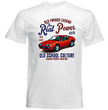 VINTAGE FRENCH CAR RENAULT ALPINE A310 REAL POWER - NEW COTTON T-SHIRT