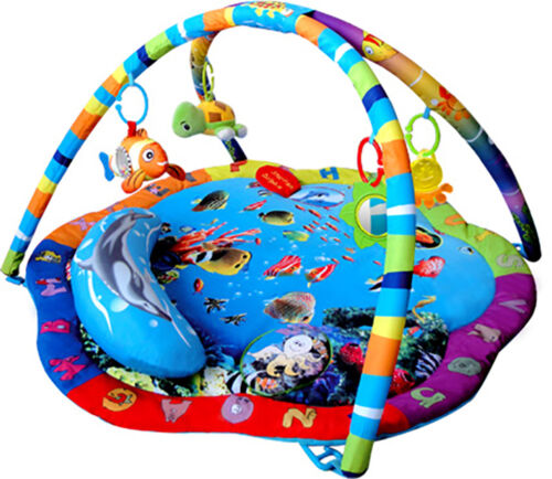 Bebe Style Musical Ocean Baby Soft Playmat Nest Activity Gym Floor Mat Music Toy