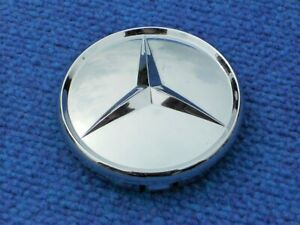 Mercedes-Aftermarket-Chrome-Alloy-Wheel-Center-Cap-3-034-Clips