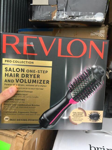 Revlon PRO Collection Salon One Step Hair Dryer & Volumizer Brush Pink - New -2