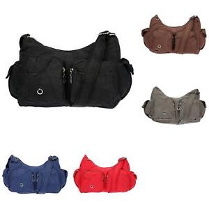 Damen-Tasche-Canvas-Schultertasche-Umhaengetasche-Handtasche-Shopper-Messenger