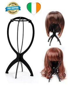Mannequin-Display-Stand-Black-Wig-Dummy-Head-Hat-Cap-Shop-Holder-Storage-Folding