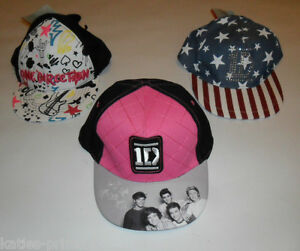 PRIMARK-GIRLS-ONE-DIRECTION-1D-SNAPBACK-CAP-HAT-NEW-ONE-SIZE-AGES-7-13