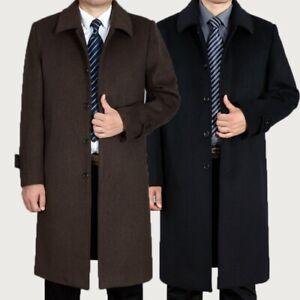 Men-039-s-Overcoat-Wool-Cashmere-Fleece-Jacket-Coat-Trench-Warm-Outerwear-Winter-New
