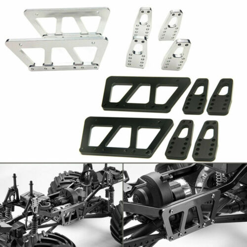 Alloy Chassis Lift Plate Skid Plate Bumper Servo Mount Links for RC Axial SCX10