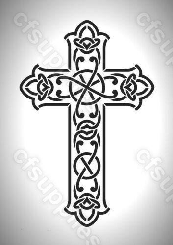 Celta//Gótico//tribal Melinex Cross Stencil A5//A4 Nuevo 190 Micron *