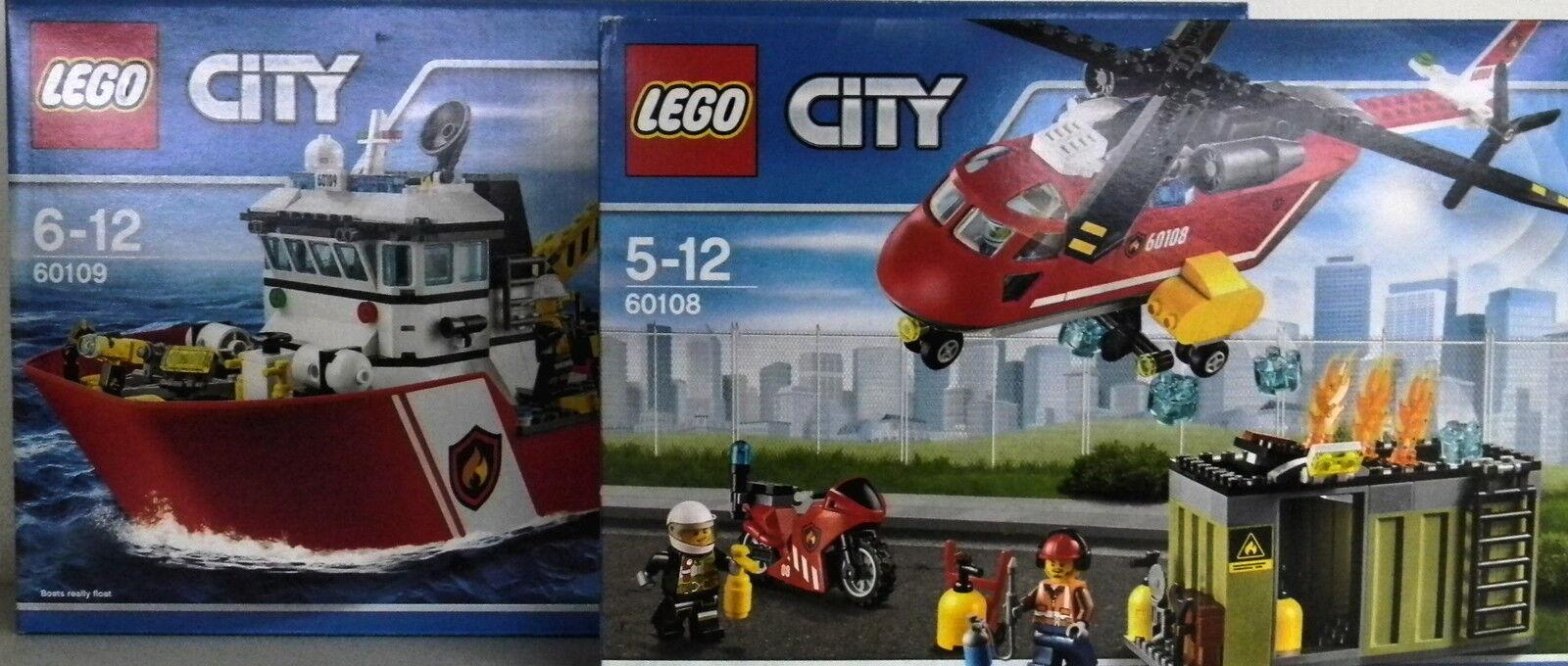 LEGO® CITY Feuerwehr 60108 & 60109 Bundle  NEU & ORIGINAL VERPACKT