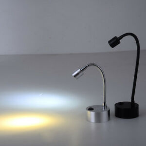 Details About Flexible Pipe 3w Led Picture Light Battery Powered Desk Lamp Button Display Case