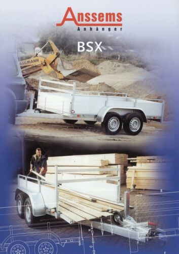 Anssems BSX rimorchio PROSPEKT 2002 rimorchio prospetto brochure OPUSCOLO