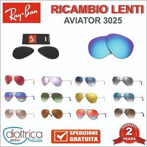 LENTI-RAY-BAN-RAYBAN-RICAMBI-AVIATOR-3025-55-58-62-SPECCHIO-POLARIZZATE-SFUMATE