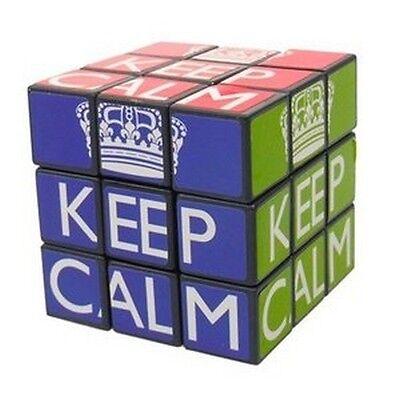 Keep Calm Cube Puzzle Brain Teaser Christmas British Block Novelty Fun