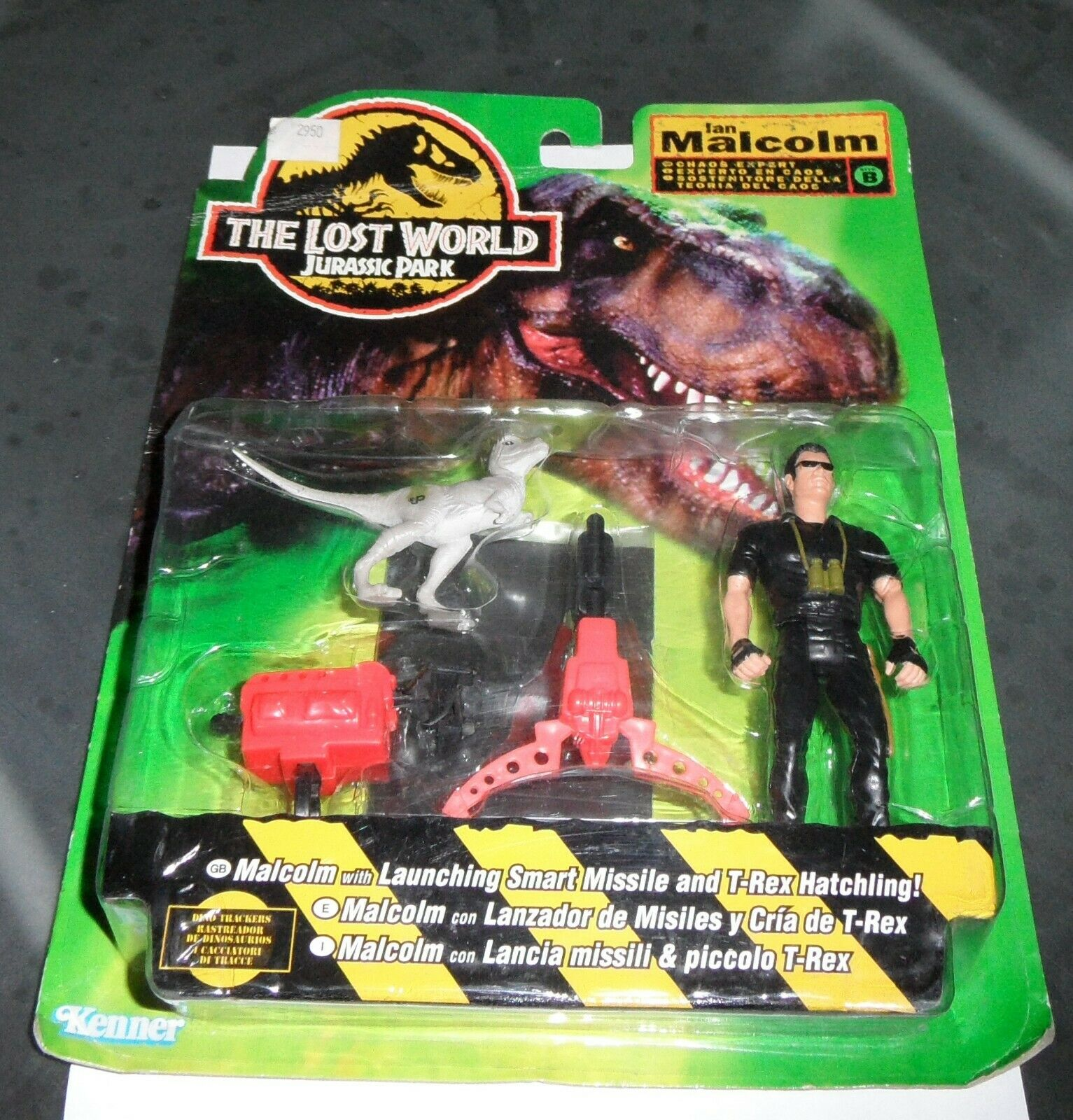 Vintage IAN MALCOLM JURASSIC PARK THE LOST WORLD Figure Carded MOC Sealed 1997
