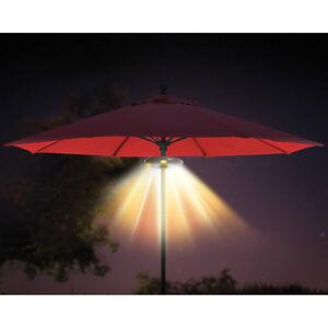 Ion Patio Umbrella Led Light Bluetooth Stereo Speaker Wireless