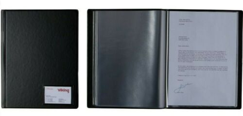 Hard Cover Black Office Depot A4 Display Book 12 Clear Pockets