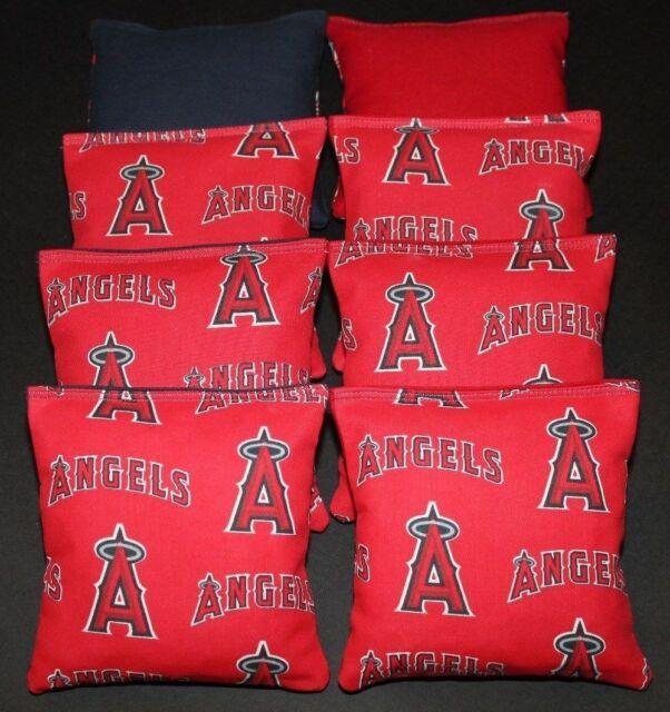 Los Angeles DODGERS CORNHOLE CORN HOLE BEAN BAGS TOSS Set of 8 CORN OR PLASTIC
