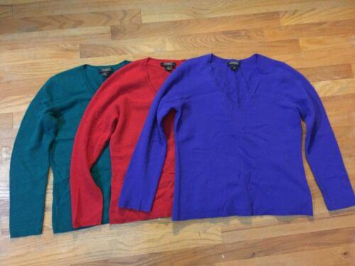 Women's Ann Taylor Size PL Cashmere V-Neck Sweater