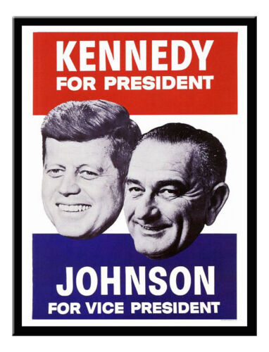 Kennedy US Political Campaign Print 1960s Framed And Memo Board Available