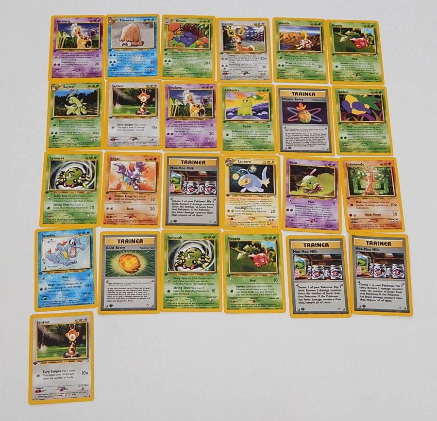 Viele 25 neo - genesis erste ausgabe spielte mit pokémon - karten r9829