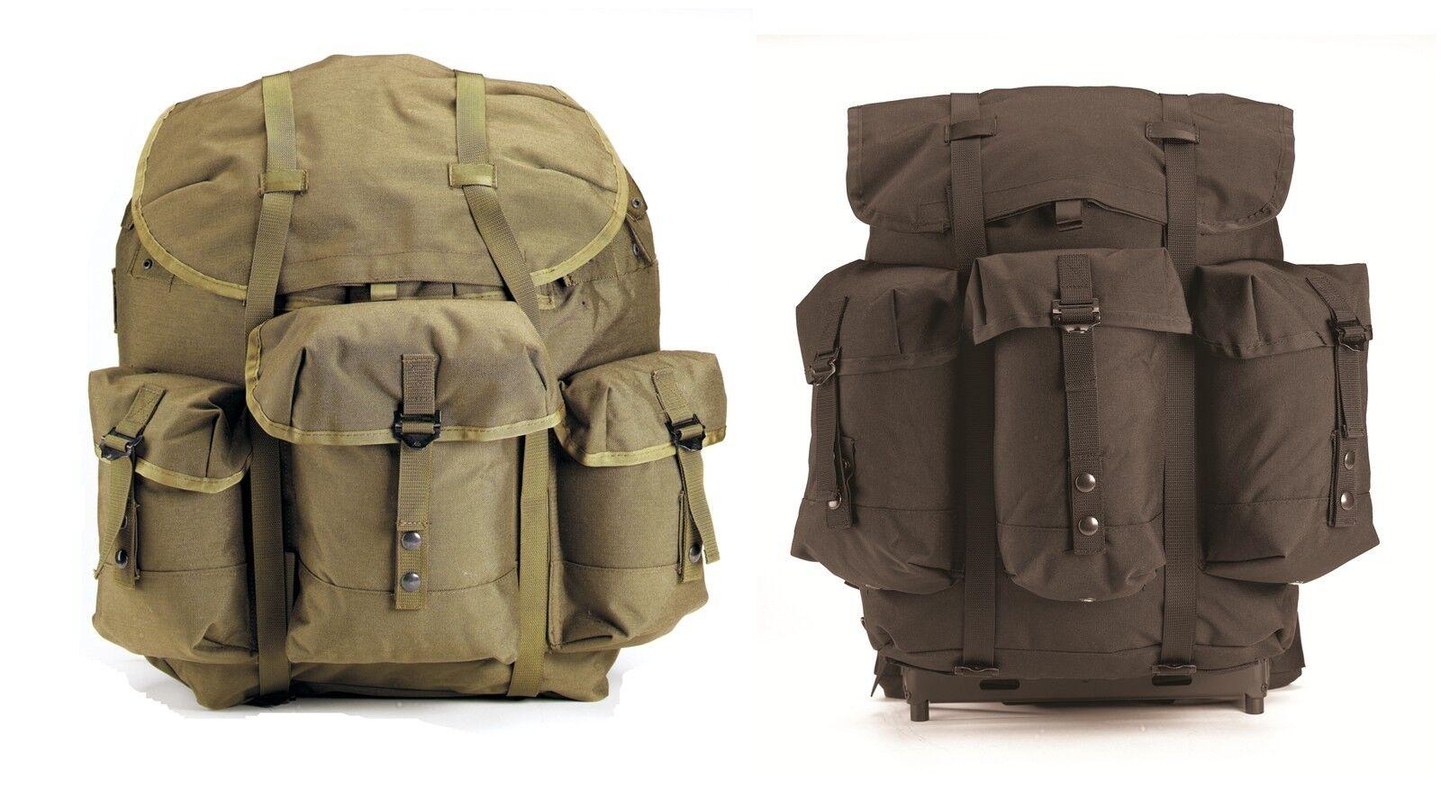 G.I. Military Type Enhanced Nylon Frame ALICE Packs Backpacks w Frame Rucksack