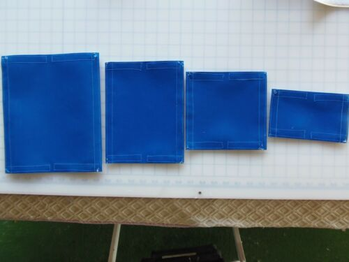 #7b-FISHING TACKLE COVERS AND POLE WRAP VARIETY 4 PACK BLUE