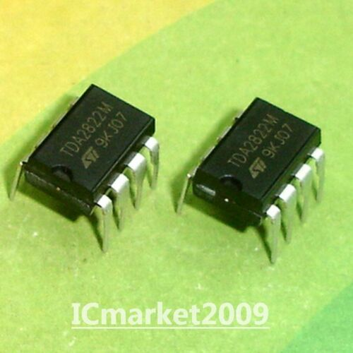 50 PCS TDA2822M DIP-8 TDA2822 DUAL LOW-VOLTAGE POWER AMPLIFIER