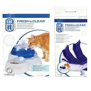 Catit Fresh Clear Cat Kitten Puppy Drinking Fountain With Food