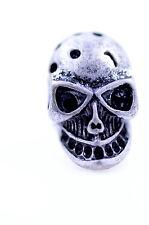 Adjustable vintage style silver skull ring punk goth biker