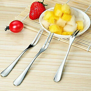 10Pcs Stainless Steel Forks For Salad Dessert Fruit Snacks Cake Dinner Tableware