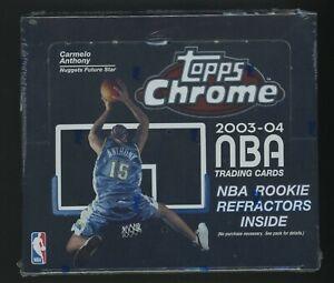 2003-04 Topps Chrome Basketball Factory Sealed Box LeBron James RC Yr